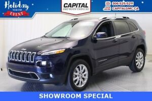 2016 Jeep Cherokee Limited 4WD*Leather-Sunroof-Navigation*