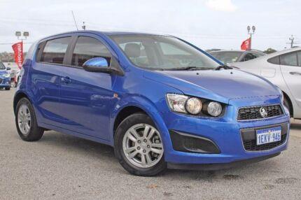 2014 Holden Barina TM MY14 CD Blue 5 Speed Manual Hatchback