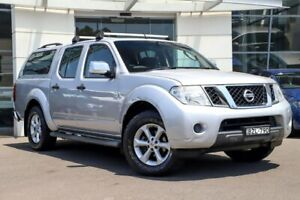 2011 Nissan Navara D40 MY10 ST-X Silver, Chrome 5 Speed Automatic Utility