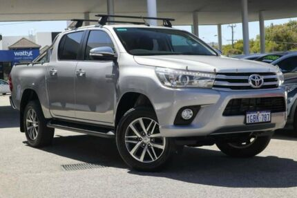 2016 Toyota Hilux GUN126R SR5 Double Cab Silver 6 Speed Sports Automatic Utility Osborne Park Stirling Area Preview
