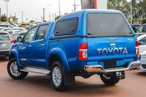 2013 Toyota Hilux KUN26R MY12 SR5 Double Cab Blue 5 Speed Manual Utility Westminster Stirling Area Preview