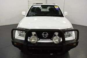 2012 Nissan Navara D40 MY12 RX (4x4) White 6 Speed Manual King C/Chas Moorabbin Kingston Area Preview