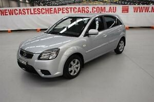 2009 Kia Rio JB MY09 LX Silver 4 Speed Automatic Hatchback Maryville Newcastle Area Preview