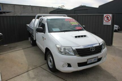 2012 Toyota Hilux KUN16R MY12 SR White 5 Speed Manual Cab Chassis Mitchell Gungahlin Area Preview