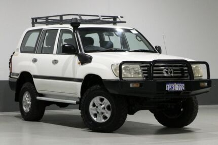 2006 Toyota Landcruiser HZJ105R Upgrade (4x4) White 5 Speed Manual 4x4 Wagon Bentley Canning Area Preview