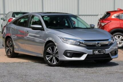 2016 Honda Civic 10th Gen MY16 VTI-LX Silver 1 Speed Constant Variable Sedan Ferntree Gully Knox Area Preview