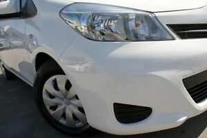 2013 Toyota Yaris NCP130R YR Glacier White 4 Speed Automatic Hatchback Old Guildford Fairfield Area Preview
