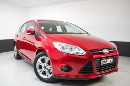 2012 Ford Focus LW MKII Trend PwrShift Red 6 Speed Sports Automatic Dual Clutch Hatchback