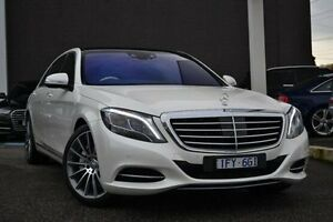 2013 Mercedes-Benz S500 V222 L 7G-Tronic + White 7 Speed Sports Automatic Sedan Burwood Whitehorse Area Preview