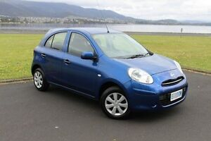 2014 Nissan Micra K13 Series 4 MY15 ST Blue 4 Speed Automatic Hatchback Invermay Launceston Area Preview