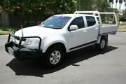 2013 Holden Colorado RG MY13 LX Crew Cab White 5 Speed Manual Cab Chassis Slacks Creek Logan Area Preview