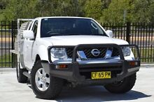 2010 Nissan Navara D40 ST-X King Cab White 5 Speed Automatic Cab Chassis Pearce Woden Valley Preview