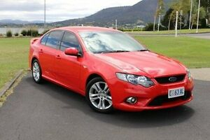 2009 Ford Falcon FG XR6 Red 6 Speed Sports Automatic Sedan Invermay Launceston Area Preview