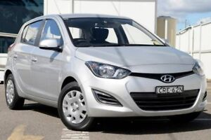 2013 Hyundai i20 PB MY14 Active Silver 4 Speed Automatic Hatchback Gosford Gosford Area Preview