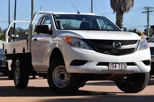 2013 Mazda BT-50 UP0YD1 XT 4x2 Hi-Rider White 6 Speed Sports Automatic Cab Chassis Moorooka Brisbane South West Preview