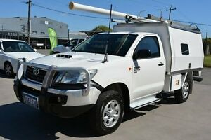 2012 Toyota Hilux KUN26R MY12 SR (4x4) White 5 Speed Manual Cab Chassis Welshpool Canning Area Preview