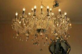 ABSOLUTELY HUGE 30-ARM, 3.6 FOOT WIDE Lead Crystal Chandelier
