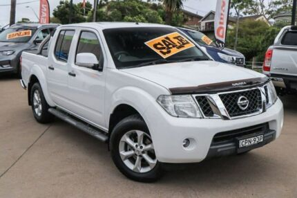 2013 Nissan Navara D40 S6 MY12 ST White 6 Speed Manual Utility Brookvale Manly Area Preview