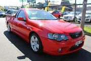 2008 Ford Falcon BF Mk II XR6 Ute Super Cab Red 4 Speed Sports Automatic Utility West Footscray Maribyrnong Area Preview