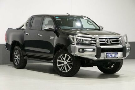 2016 Toyota Hilux GUN126R SR5 (4x4) Black 6 Speed Manual Dual Cab Utility Bentley Canning Area Preview