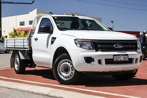 2012 Ford Ranger PX XL 4x2 White 6 Speed Manual Cab Chassis Bibra Lake Cockburn Area Preview