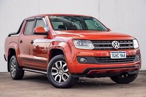 2015 Volkswagen Amarok 2H MY16 TDI420 4MOTION Perm Canyon Orange 8 Speed Automatic Utility Myaree Melville Area Preview