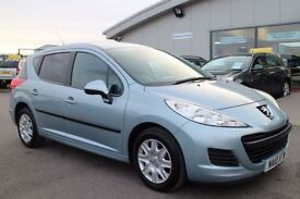 PEUGEOT 207 1.6 HDI SW S 5d 90 BHP - 360 SPIN ON WEBSITE (blue) 2010