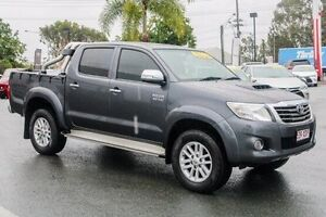 2013 Toyota Hilux KUN26R MY14 SR5 Double Cab Grey 5 Speed Automatic Utility Noosaville Noosa Area Preview