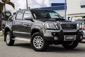 2013 Toyota Hilux KUN26R MY12 SR5 Double Cab Black 4 Speed Automatic Utility Willagee Melville Area Preview