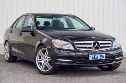2010 Mercedes-Benz C200 W204 MY10 CGI Black 5 Speed Auto Tipshift Sedan