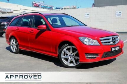 2014 Mercedes-Benz C200 W204 MY14 Elegance Estate 7G-Tronic + Red 7 Speed Sports Automatic Wagon