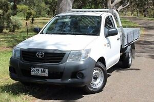 2011 Toyota Hilux TGN16R MY10 Workmate White 4 Speed Automatic Cab Chassis Hawthorn Mitcham Area Preview