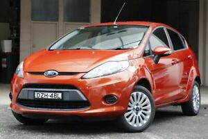 2010 Ford Fiesta WT LX Orange 6 Speed Automatic Hatchback Brookvale Manly Area Preview