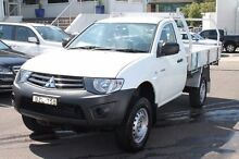 2011 Mitsubishi Triton MN MY11 GL White 5 Speed Manual Cab Chassis Brookvale Manly Area Preview