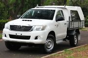 2014 Toyota Hilux KUN26R MY14 SR White 5 Speed Automatic Cab Chassis Hawthorn Mitcham Area Preview