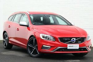 2015 Volvo V60 F Series MY15 T6 Geartronic AWD R-Design Passion Red 6 Speed Sports Automatic Wagon Glen Iris Boroondara Area Preview