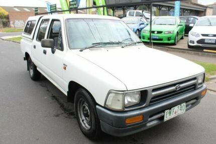 1992 Toyota Hilux RN85R DX White 5 Speed Manual Utility