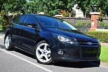 2013 Ford Focus LW MKII Titanium PwrShift Black 6 Speed Sports Automatic Dual Clutch Hatchback Medindie Walkerville Area Preview