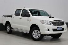 2013 Toyota Hilux KUN26R MY12 SR (4x4) White 5 Speed Manual Dual Cab Pick-up Bentley Canning Area Preview