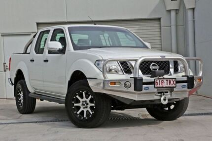 2012 Nissan Navara D40 S6 MY12 ST White 6 Speed Manual Utility Hillcrest Logan Area Preview