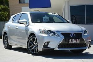 2014 Lexus CT200H ZWA10R MY13 F Sport Silver 1 Speed Constant Variable Hatchback Moorooka Brisbane South West Preview