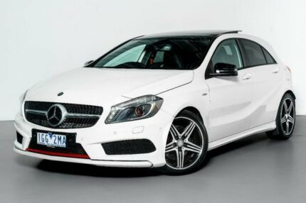 2013 Mercedes-Benz A250 W176 Sport D-CT White 7 Speed Sports Automatic Dual Clutch Hatchback Port Melbourne Port Phillip Preview