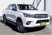 2017 Toyota Hilux GUN126R SR5 Double Cab White 6 Speed Sports Automatic Utility Kings Park Blacktown Area Preview