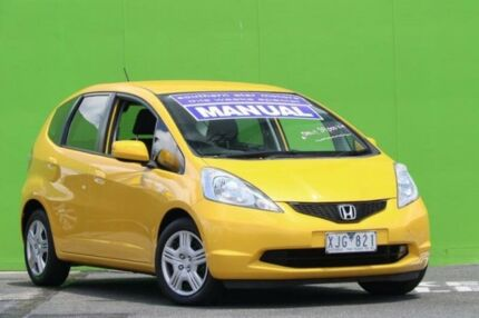 2009 Honda Jazz GE MY09 VTi Yellow 5 Speed Manual Hatchback Ringwood East Maroondah Area Preview