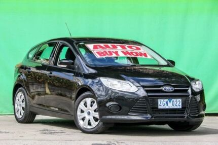 2012 Ford Focus LW Ambiente PwrShift Black 6 Speed Sports Automatic Dual Clutch Hatchback Ringwood East Maroondah Area Preview