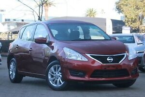 2014 Nissan Pulsar C12 ST Red 1 Speed Continuous Variable Hatchback Zetland Inner Sydney Preview