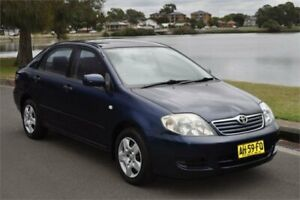 2005 Toyota Corolla ZZE122R Ascent Blue 4 Speed Automatic Sedan Five Dock Canada Bay Area Preview