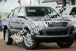 2012 Toyota Hilux KUN26R MY12 SR5 Double Cab Charcoal Grey 4 Speed Automatic Utility Christies Beach Morphett Vale Area Preview