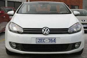 2012 Volkswagen Golf VI MY12 118TSI White 6 Speed Manual Cabriolet North Melbourne Melbourne City Preview