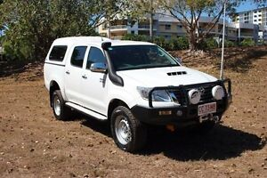 2013 Toyota Hilux KUN26R MY14 SR5 Double Cab Glacier White 5 Speed Manual Utility The Gardens Darwin City Preview